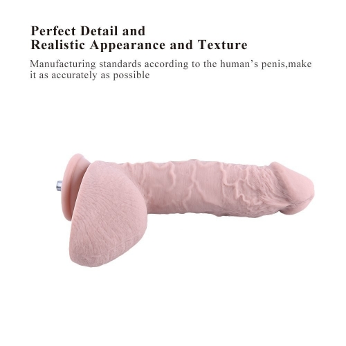 "9.8"" Huge Silicone Dildo for Hismith Premium Sex Machine,Safety Non-toxic Realistic"