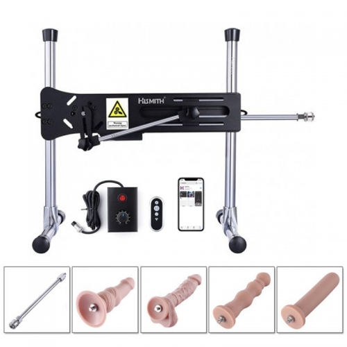 Hismith Automatic Butt Thrusting Sex Machine With Four Anal Dildos, Thrust Rod Extension And Fucking Machine Storage Bag