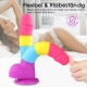 Hismith rainbow dildo made of soft silicone, realistic dildo with suction cup, classic dildos for women and men
